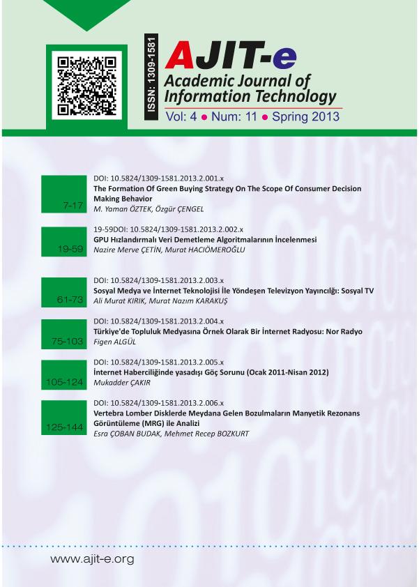 Cilt 4 – Sayı 11 – Bahar 2013
