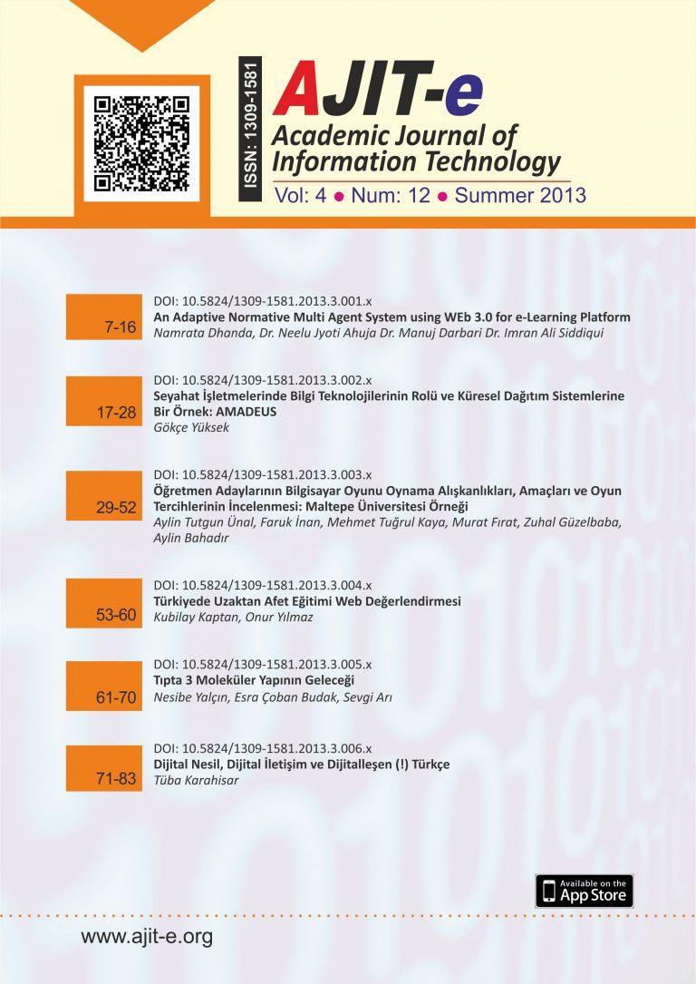 Cilt 4 – Sayı 12 – Yaz 2013