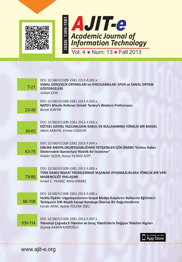Cilt 4 – Sayı 13 – Güz 2013