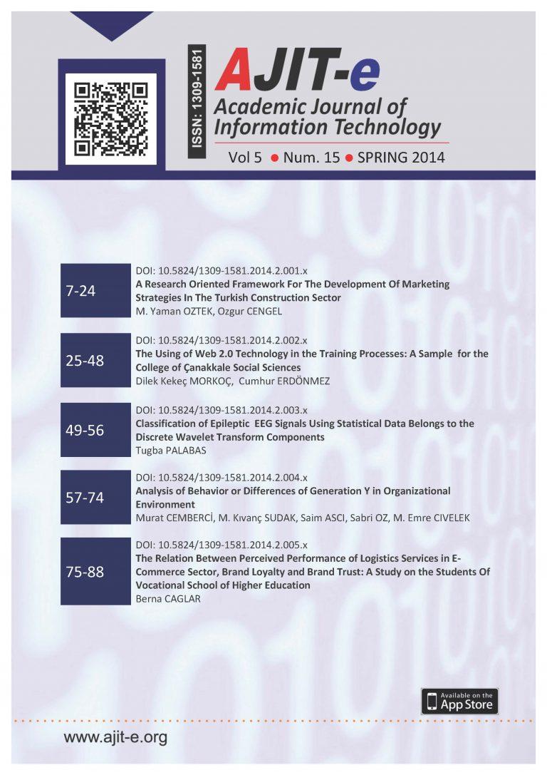 Cilt 5 – Sayı 15 – Bahar 2014