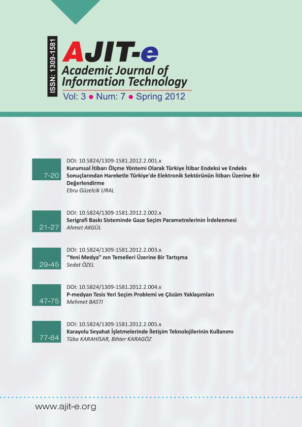 Cilt 3 – Sayı 7 – Bahar 2012
